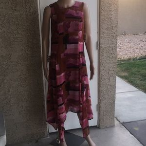 Pink and red Bar III dress
